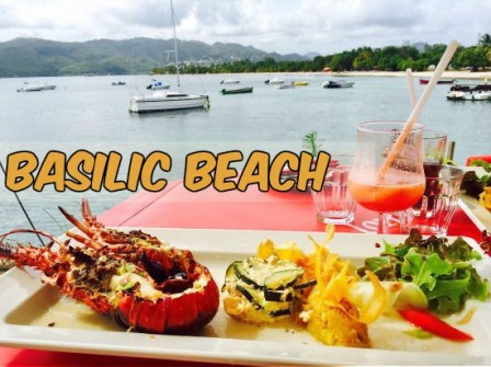 restaurant antillais basilic beach martinique