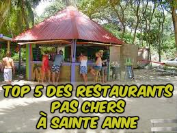 5 restaurants pas chers Sainte-Anne Martinique