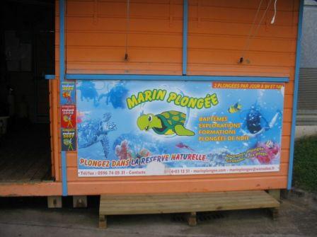 Kiosque de Marin Plongée sur marina du Marin